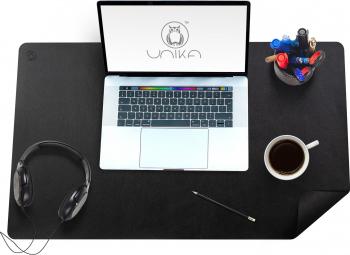 Mapa birou Flexi din piele cu doua fete pentru protectie birou negru Articole si accesorii birou