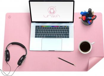 Mapa birou Flexi din piele cu doua fete pentru protectie birou roz Articole si accesorii birou