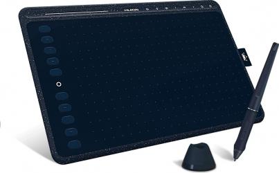 Tableta Grafica Profesionala Huion Hs611 Starry Blue 8192 niveluri presiune PW500 Pen TILT and plusmn 60 and deg include 8 varfuri rezerva