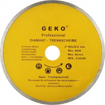 Disc diamantat continuu 180x8x25 4mm Geko G00242