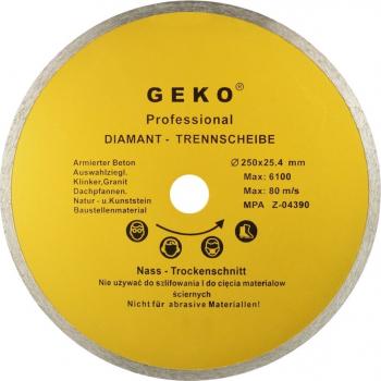 Disc diamantat cu profil continuu 250x8x25 4mm Geko G00248