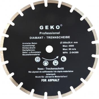 Disc diamantat pentru asfalt 350mm x 25 4mm GEKO PROFI G00279