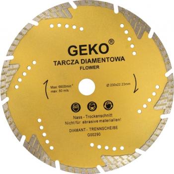 Disc diamantat segmentat Turbo Teeth 230x22mm Geko G00290