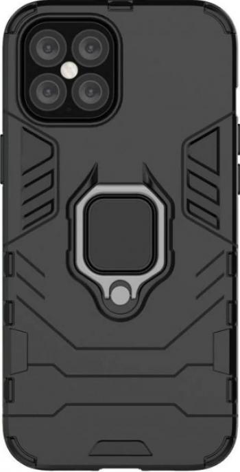 Husa Antisoc compatibila cu iPhone 11 Pro Max cu Magnet auto+Ring Neagra Huse Telefoane