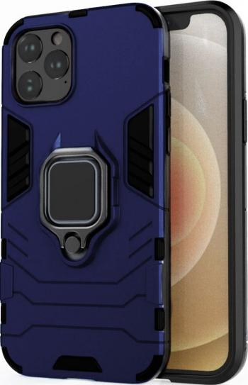 Husa Antisoc compatibila cu iPhone 11 Pro Max cu Magnet auto+Ring Albastru Huse Telefoane