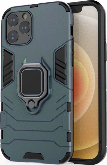 Husa Antisoc compatibila cu iPhone 11 Pro Max cu Magnet auto+Ring Verde Huse Telefoane
