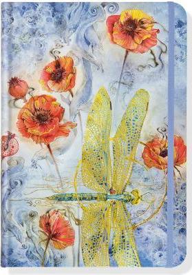 Indigo Dragonfly Journal Diary Notebook