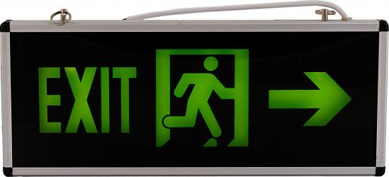 Lampa exit iesire la dreapta cu led si acumulator autonomie 90 minute Corpuri de iluminat