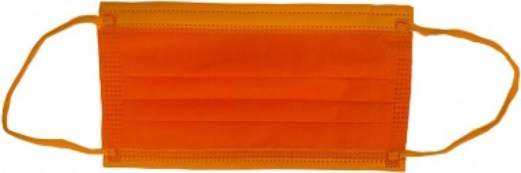 Masca medicala 4 straturi full color Orange Dr. Mayer Masti chirurgicale si reutilizabile