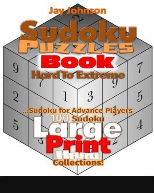 Sudoku Puzzle Book Hard to Extreme Sudoku Advanced Player 100 Sudoku Large PR Carti