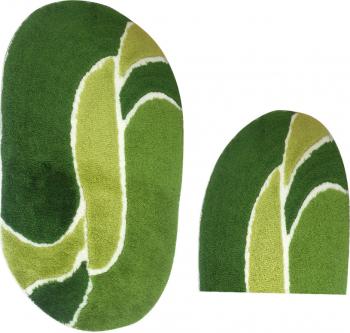 Covorase de Baie Set 2 Oval Verde
