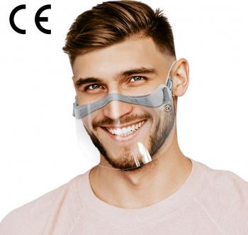 Set 5 bucati Masca FFP2 fara supapa Dr. Mayer alba + Masca protectie gura si nas tip viziera X 1 bucata