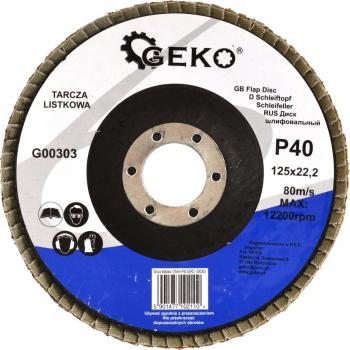 Disc abraziv cu lame 125mm P40 GEKO G00303
