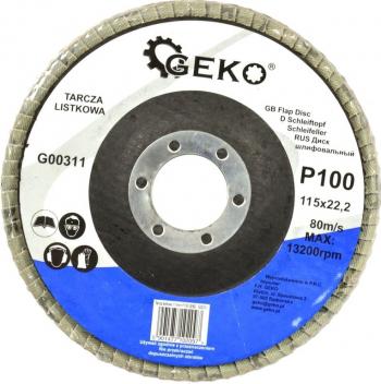 Disc lamelar pentru slefuire 115mm P100 Geko G00311