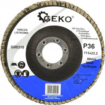 Disc lamelar pentru slefuire 115mm P36 Geko G00310