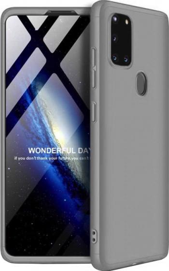 Husa 360 pentru Samsung Galaxy A21s Silver Huse Telefoane