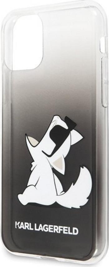 Husa de protectie Karl Lagerfeld Choupette Fun iPhone 11 Pro NegruAlb Huse Telefoane