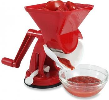 Masina de Tocat Rosii Velox Rigamonti din Plastic Alimentar pentru Macinat si Stors Suc de Rosii si Bulion