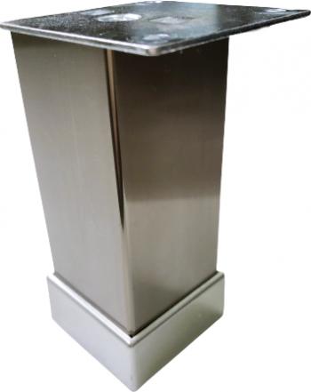 Picior metalic pentru mobilier H 100 mm finisaj inox profil patrat 40x40 mm cu masca Accesorii mobilier