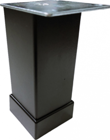 Picior metalic pentru mobilier H 100 mm finisaj negru profil patrat 40x40 mm cu masca Accesorii mobilier