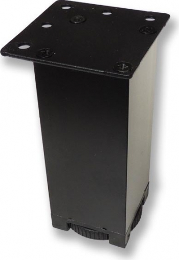 Picior metalic pentru mobilier H 80 mm finisaj negru profil patrat 40x40 mm fara masca AN1 Accesorii mobilier