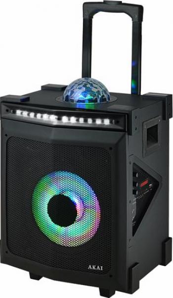 Boxa portabila Akai ABTS-80 30W Discoball Karaoke Negru
