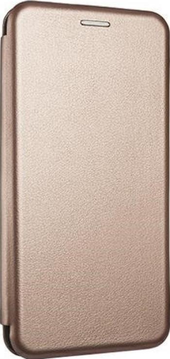 Husa Flip Carte Cu Magnet Lux Upzz Compatibila Cu Samsung Galaxy A12 Gold