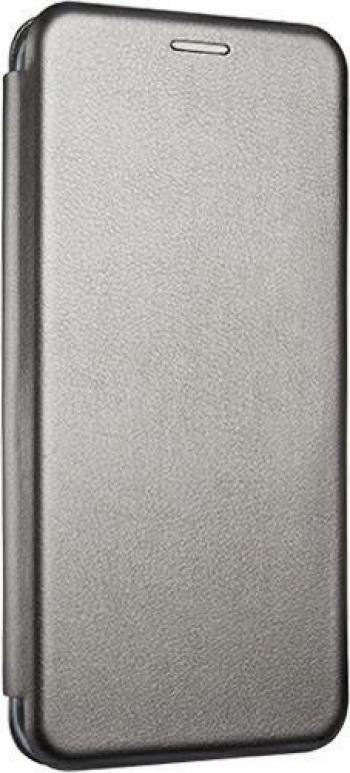 Husa Flip Carte Cu Magnet Lux Upzz Compatibila Cu Samsung Galaxy A12 Gri