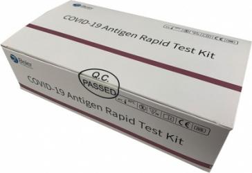 Pachet test rapid COVID-19 antigen Beier + Set 50 masti medicale DR.Mayer total color verde Teste rapide covid anticorpi antigen