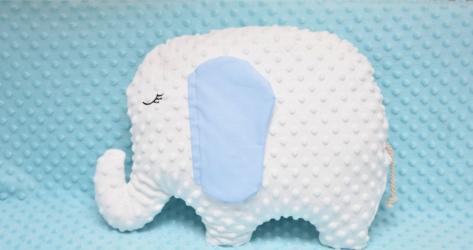 Pernuta decor elefantel model baietel Lenjerii, saltele si accesorii