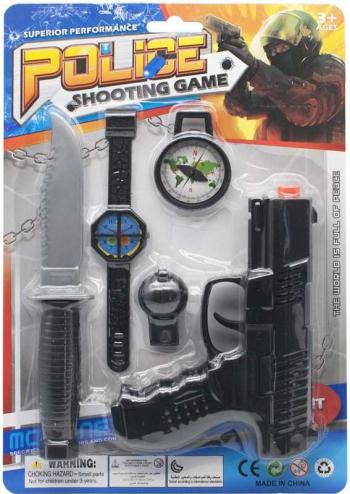 Pistol + Accesorii Politie 1 Set/Blister Jucarii
