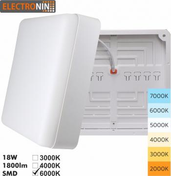 Plafoniera 18W Tip P 1800lm 6000K AC220-240V 50/60 Hz 180 and deg ABS White A+ Corpuri de iluminat