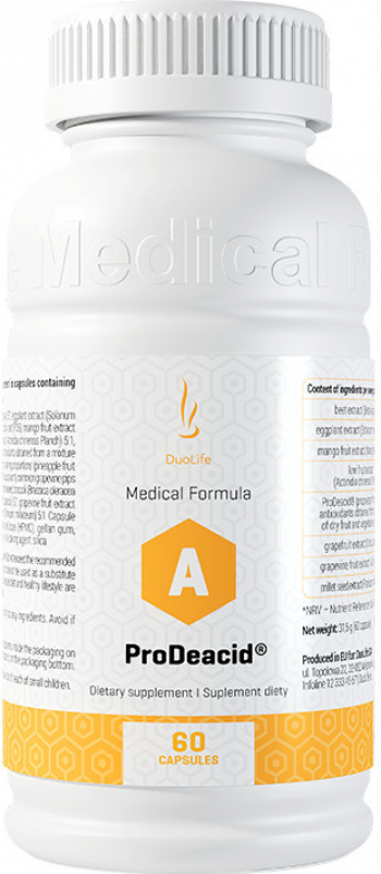 Supliment alimentar DuoLife Medical Formula ProDeacid 60 capsule