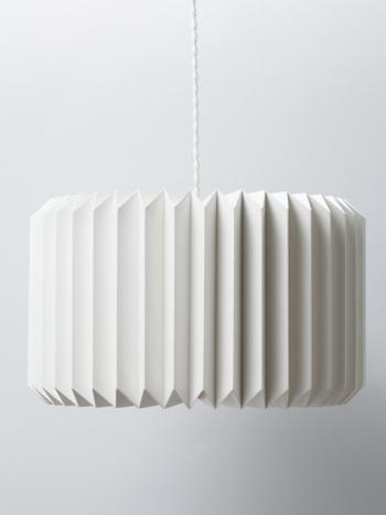 Abajur lustra din hartie carton forma cilindrica minimalista decorativa asamblare manuala alb