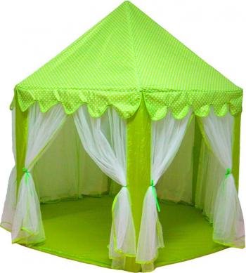 Cort Castel de joaca pentru copii 135 cm verde