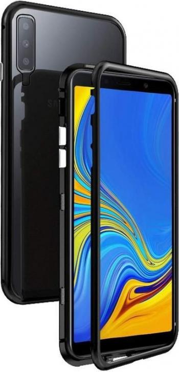 Husa Premium Magneto Glass Upzz Pro Samsung Galaxy A50 Negru Cu Spate Transparent Huse Telefoane