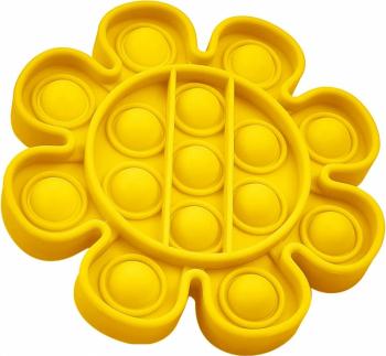 Jucarie Pop It Now and Flip It Push Bubble Floare Galben Kendama si jucarii antistres