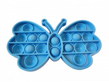 Jucarie Pop It Now and Flip It Push Bubble Fluture Albastru Kendama si jucarii antistres