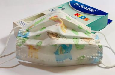 Pachet Masti medicale pentru copii X 10 buc. albe cu imprimeu tipIIR + Masti protectie FFP2 fara supapa Serix X 5 buc Masti chirurgicale si reutilizabile