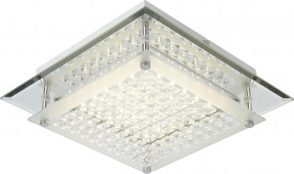 Plafoniera LED alba 9.5 W 1180 lm metal si sticla Quadratto Corpuri de iluminat