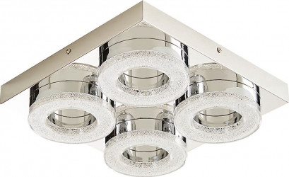 Plafoniera LED argintie 16 W 1700 lm 3000 K metal si plastic Berna Corpuri de iluminat