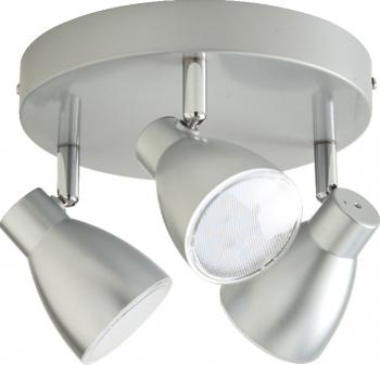 Plafoniera LED cu 3 spoturi alba metal si plastic Verdun Corpuri de iluminat