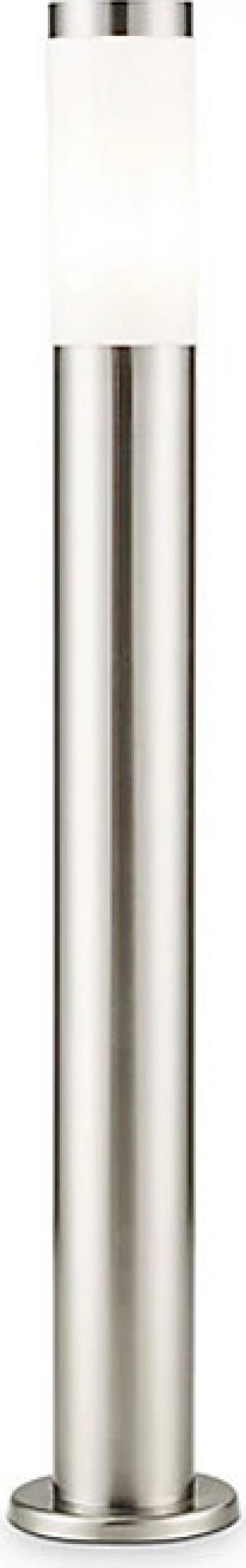 Stalp exterior cu finisaj cromat putere maxima 15 W inaltime 80 cm