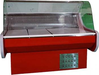Vitrina frigorifica orizontala geam curbat dezghetare automata lungime 1 m