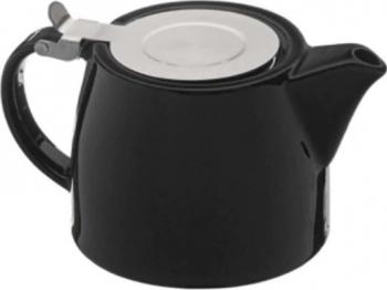 Ceainic din Portelan cu Infuzor si capac 500 ml negru Tea Pray Love Ibrice, Ceainice si Espressoare aragaz