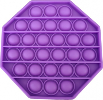 Jucarie antistres din silicon Push Pop Bubble Pop It Neo Toy forma hexagon Mov 12x12x1.5cm Jucarii Interactive