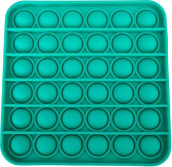 Jucarie antistres din silicon Push Pop Bubble Pop It Neo Toy forma patrat Verde 12x12x1.5cm Jucarii Interactive