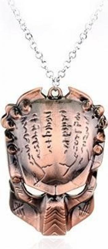 Lantisor Cu Pandantiv Alien Vs Predator Masca Bronze Lanturi si Coliere