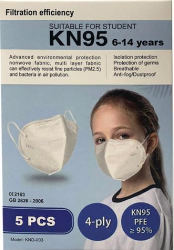 Masti de Protectie pentru copii KN95 5 Bucati 6-14 ani Masti chirurgicale si reutilizabile