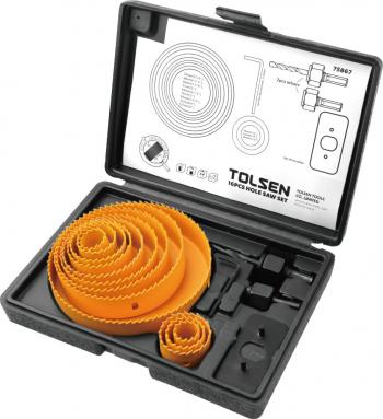 Set freze/carote inelare pentru lemn dim 19 mm-127 mm H25 mm 16 piese Tolsen Accesorii fierastraie